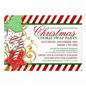 christmas cookie swap party invitation With cookie swap invitation template