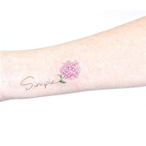 hydrangea flowers tattoos  women pastel tattoo