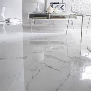 Carrelage Sol Pas Cher : carrelage sol et mur blanc effet marbre rimini x ~ Dailycaller-alerts.com Idées de Décoration