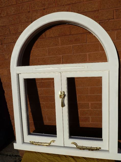 bespoke semi circular top arch window timber wooden   measure high quality ebay