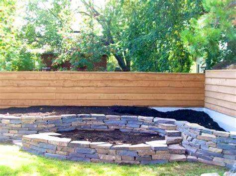 natural stone raised garden bed small backyard gardens