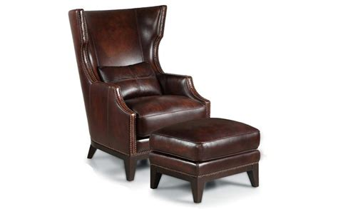 brown leather chair with ottoman dark brown leather chair plus two level ottoman completed