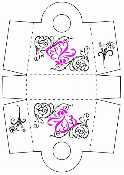 Box Templates Favor Template Boxes Printable Gift