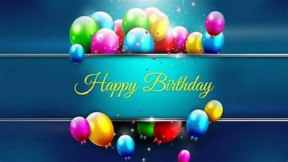 Birthday Happy Background Colorful Desktop Balloons Attractive