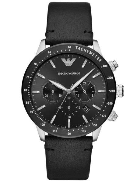 Buy Emporio Armani AR11243 Mario Black Leather Men Watch