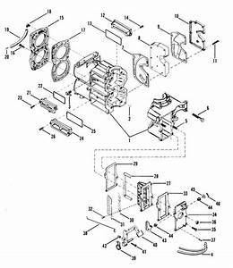 Mercury Marine 25 Hp  2 Cylinder  Cylinder Block  U0026 Cover Parts