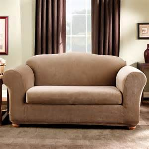sure fit slipcovers form fit stretch stripe 2 piece sofa
