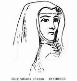 Nun Clipart Illustration Royalty Picsburg Rf sketch template
