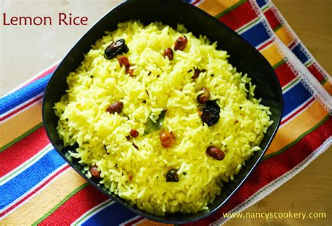 lemon rice recipe nancys cookery