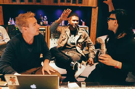 skrillex  diplo hit  studio  usher run  trap