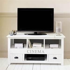 Meuble Tv Maison Du Monde : meuble tv en bois blanc newport meuble tv maisons du monde ventes pas ~ Teatrodelosmanantiales.com Idées de Décoration
