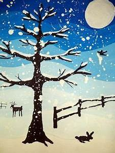 1000+ images about Winter art on Pinterest | Painting for ...
