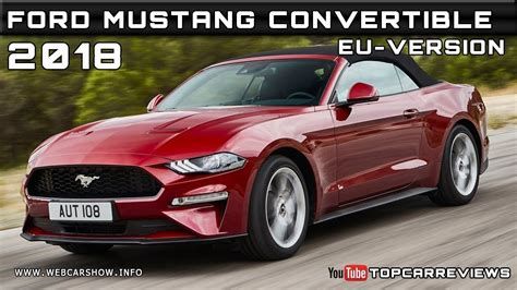 2018 Ford Mustang Convertible Eu-version Review Rendered