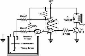 liquid sensor circuit page 4 sensors detectors circuits With plant water alarm