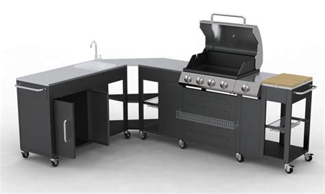 meuble de cuisine exterieur barbecue gaz inox grand meuble cuisine exterieur