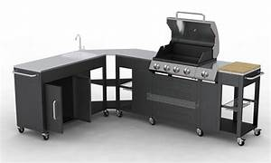 Meuble De Cuisine Exterieur : barbecue gaz inox meuble cuisine d 39 angle modulable ~ Melissatoandfro.com Idées de Décoration