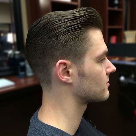 classic connected haircut    blended  fade