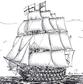 draw hms victory nelsons flagship shoo rayner   draw