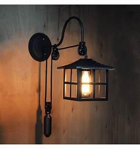 Lampe Chevet Murale : applique industrielle style japonais lampe pagode hoshi ~ Premium-room.com Idées de Décoration