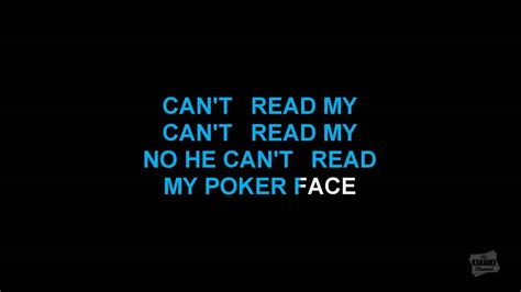 Poker Face In The Style Of Lady Gaga Karaoke Video With