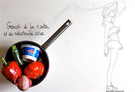 amalgame cuisine gnocchi ricotta ratatouille crue amalgame