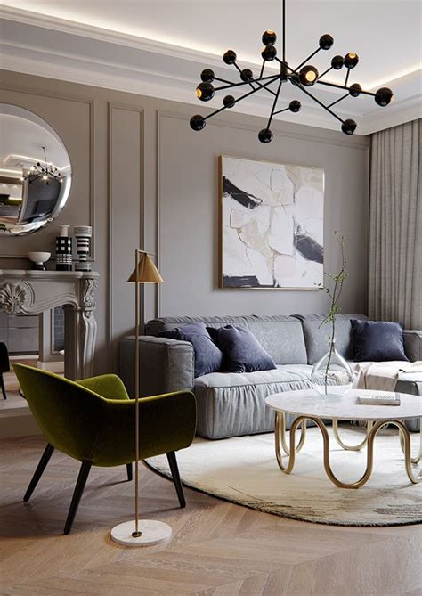 french style apartment  behance living room lighting