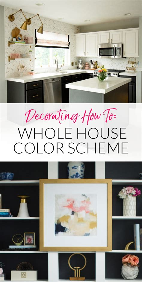 how to create cohesion with a whole house color palette