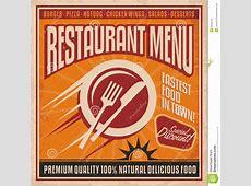 Rétro Calibre D'affiche Pour Le Restaurant D'aliments De