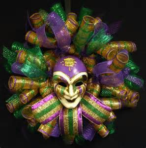 mardi gras mask wreath mardi gras decorations by