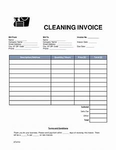 cleaning invoice template pdf hardhostinfo With cleaning company invoice