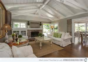 vaulted ceiling house plans 15 homey country cottage decorating ideas for living rooms