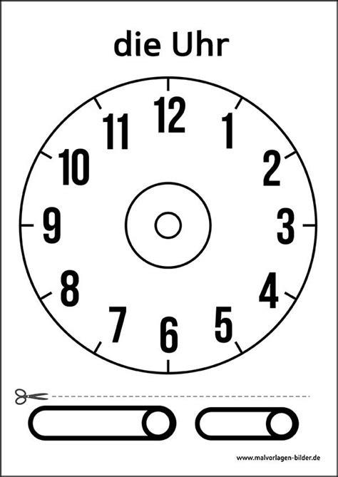 Uhr Zum Basteln Uhr Vorlage Zum Ausdrucken