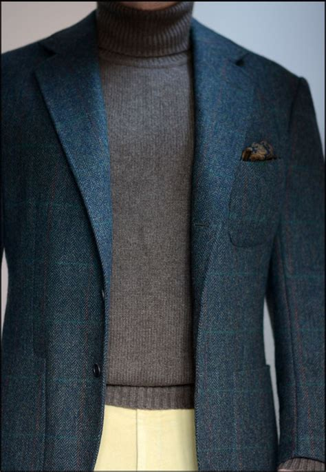 steed bespoke blue tweed donegal jacket steeds style