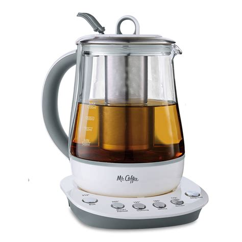 An espresso machine is the perfect gift for the wedding couple who has everything. Mr. Coffee® Hot Tea Maker and Kettle - White
