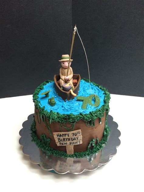 birthday fishing cake  fisherman fish cake
