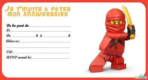 Carte Invitation Ninjago