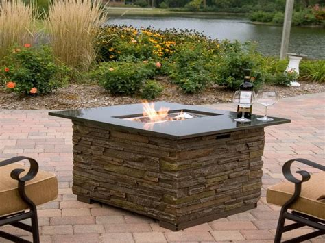 outdoor gas fireplace table how to create outdoor gas fire pits fortikur backyard