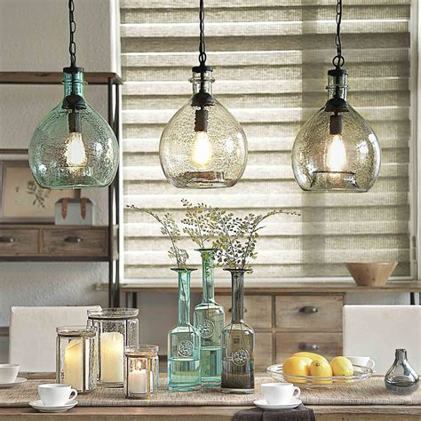 glass pendant lights for kitchen island to casamotion wavy vintage industrial