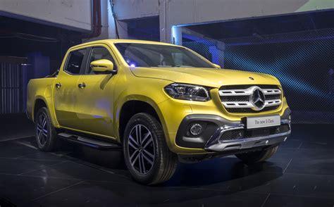 mercedes benz shows production  class pickup truckstill