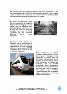 Le marche ferroviaire en espagne 2013 chambre franco for Chambre de commerce franco espagnole