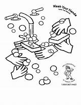 Coloring Washing Colouring Hand Hygiene Wash Germs Bacteria Printable Hands Personal Handwashing Outline Virus Clipart Germ Cleanliness Worksheets Kindergarten Healthy sketch template