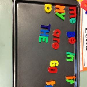 magnetic letters on an oven tray magic 100 words my With magnetic letters and words