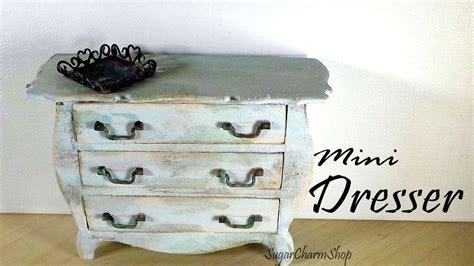 miniature furniture vintage dresser tutorial dolls