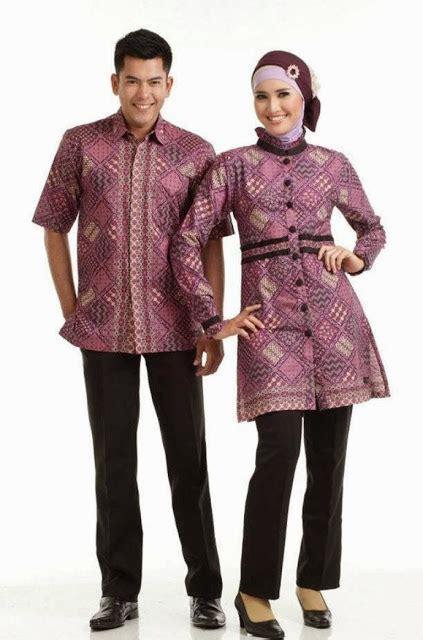 model baju batik couple anak muda tampil serasi