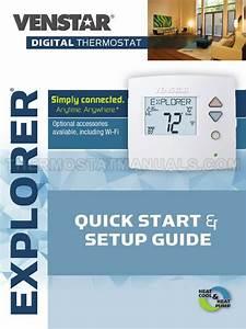 Venstar T3700 Explorer Thermostat Quick Start  U0026 Setup Guide