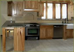Lowes Kitchen Cabinets by Hickory Kitchen Cabinets With Dark Countertop Home Design Ideas