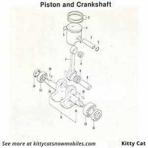 85 Kitty Cat Piston And Crankshaft Parts
