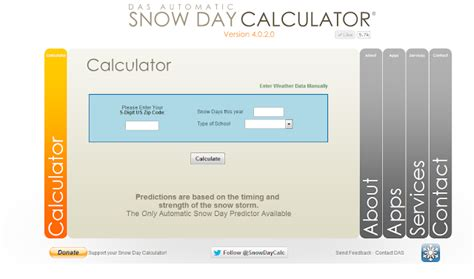 Snow Day Calculator by Owl Things Snow Day Calculator Snow Day Freebie