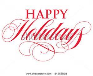 Elegant Happy Holidays Clip Art