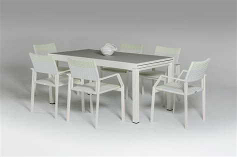 renava white outdoor dining set